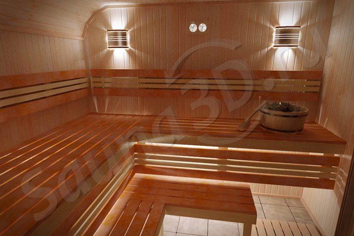 проект бани с дровяной печью FERINGER