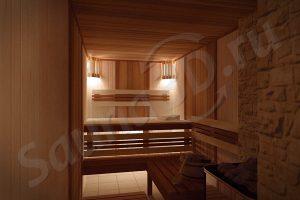 726 дизайн проект сауны с дровяной печью KASTOR