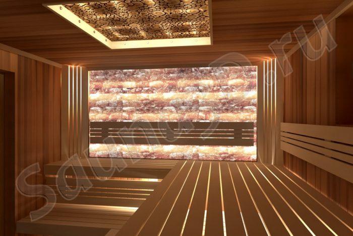 проект сауны с окном
