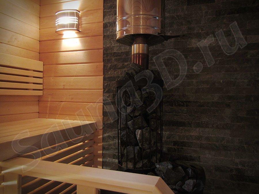 фото готовой сауны 628 проект бани с дровяной печью KASTOR