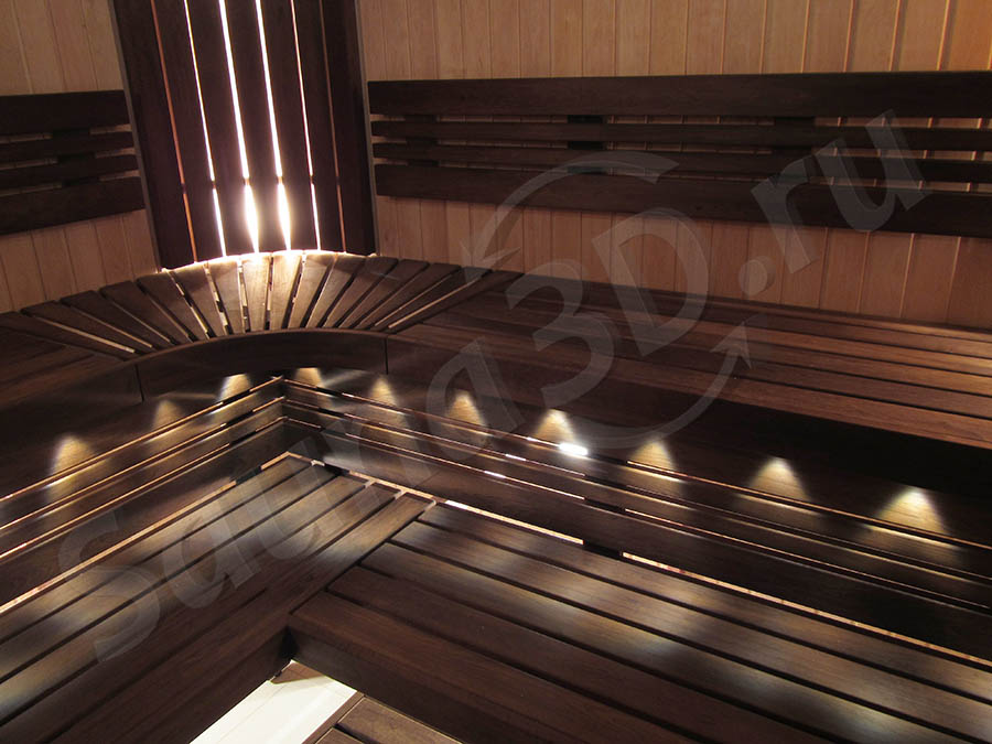 фото готовой сауны 687 проектсауны с электрокаменкой HARVIA Cilindro PC110EE