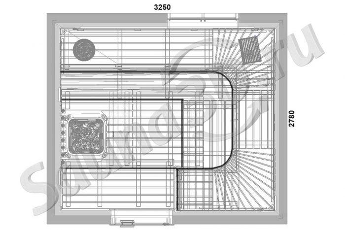 чертеж 727 дизайн проект сауны панной из можжевельника гималайская соль
