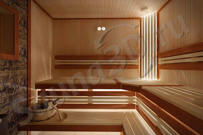 735 дизайн проект бани с газовой печью