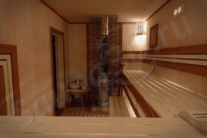 739 дизайн проект бани из ольхи Ферингер Классика Паровая