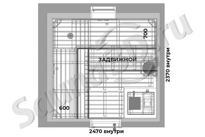 чертеж 740 дизайн проект бани из ольхи талькохлорит Русская парная