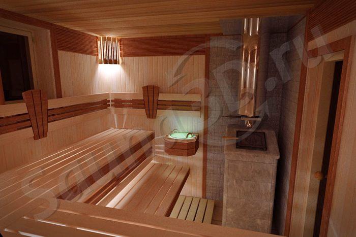 740 дизайн проект бани из ольхи талькохлорит Русская парная