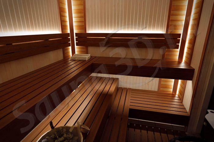 742 дизайн проект сауны со светодиодной подсветкой