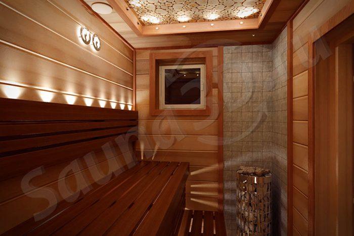 744 дизайн проект сауны из термомагнолии с HARVIA Cilindro