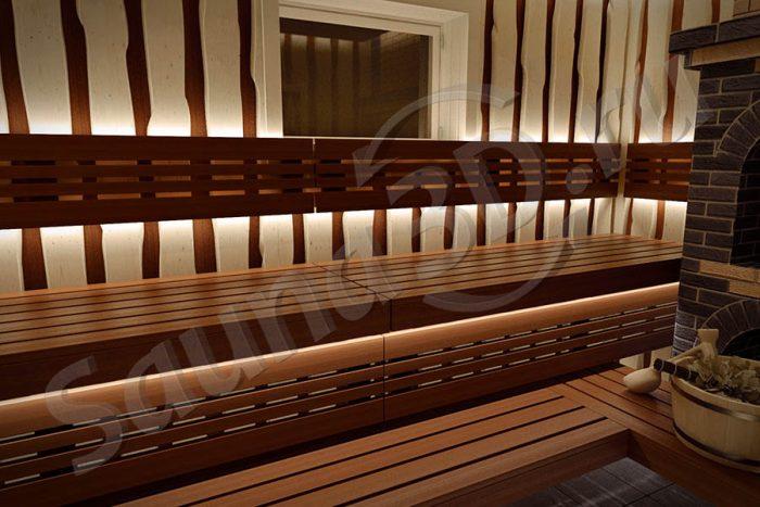 746 внутренняя отделка бани с кирпичной печью.
