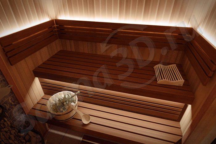 750 дизайн проект бани со светодиодной подсветкой