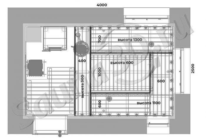 чертеж план 752 дизайн проект бани с дровяной печью в талькохлорите