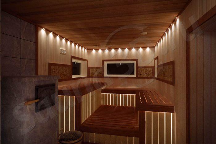 752 дизайн проект бани с дровяной печью в талькохлорите
