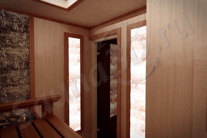 764 проект сауны в коттедже, гималайская соль и можжевельник
