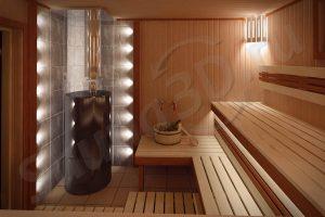 775 дизайн проект бани из ольхи дровяная печь AITO AK57