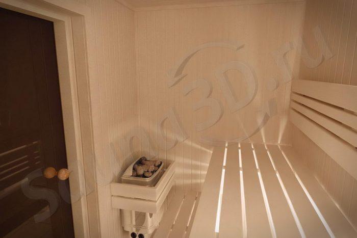 776 дизайн проект сауны в квартире, печь HARVIA Trendi KIP