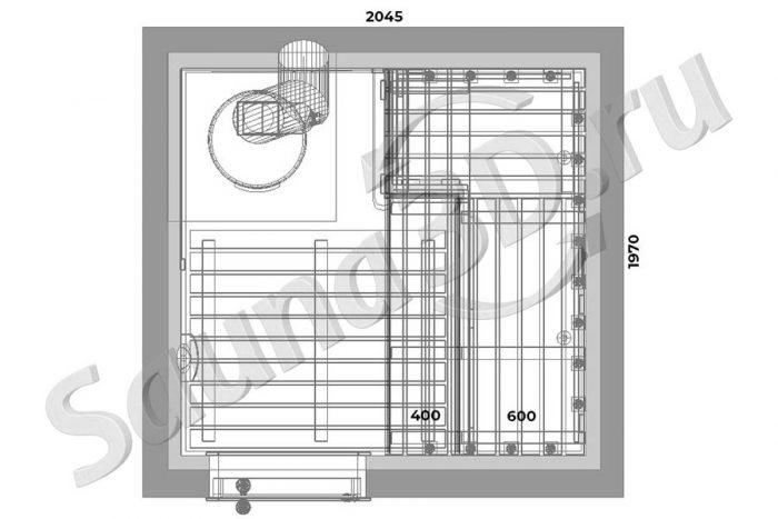 чертеж план 778 дизайн проект бани из кедра дровяная печь AITO AK47 гималайская соль оптоволокно