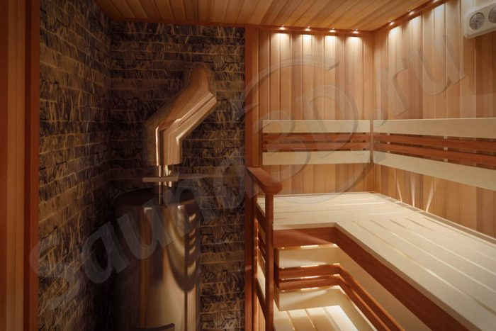 778 дизайн проект бани из кедра дровяная печь AITO AK47 гималайская соль оптоволокно
