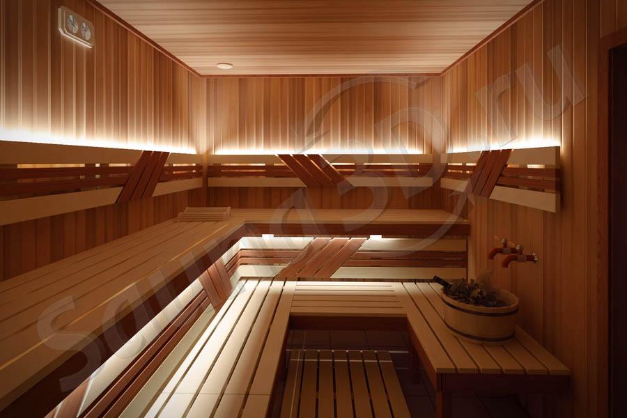 779 дизайн проект бани из кедра дровяная печь KASTOR SAGA