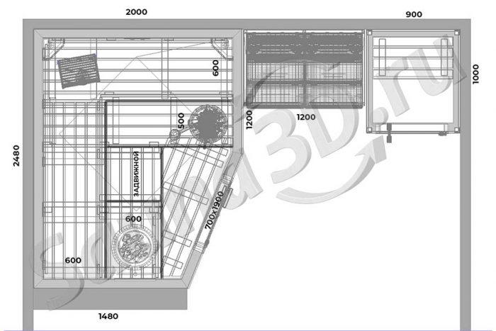 чертеж план 781 проект сауны и инфракрасной кабины, гималайская соль
