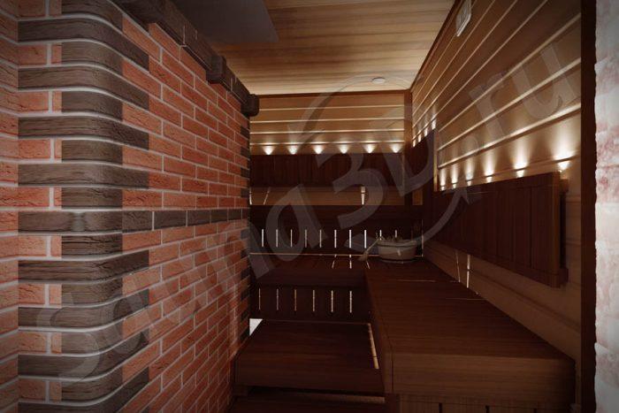 790 дизайн проект бани из канадского кедра с кирпичной печью гималайская соль