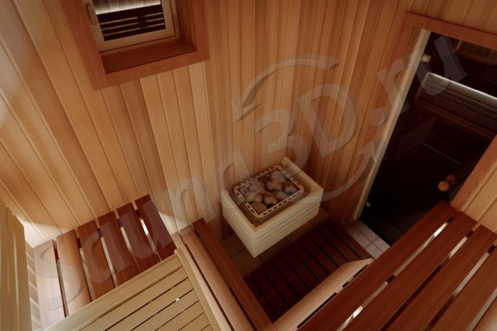 801 дизайн сауны из кедра с шезлонгом, печь HARVIA Senator