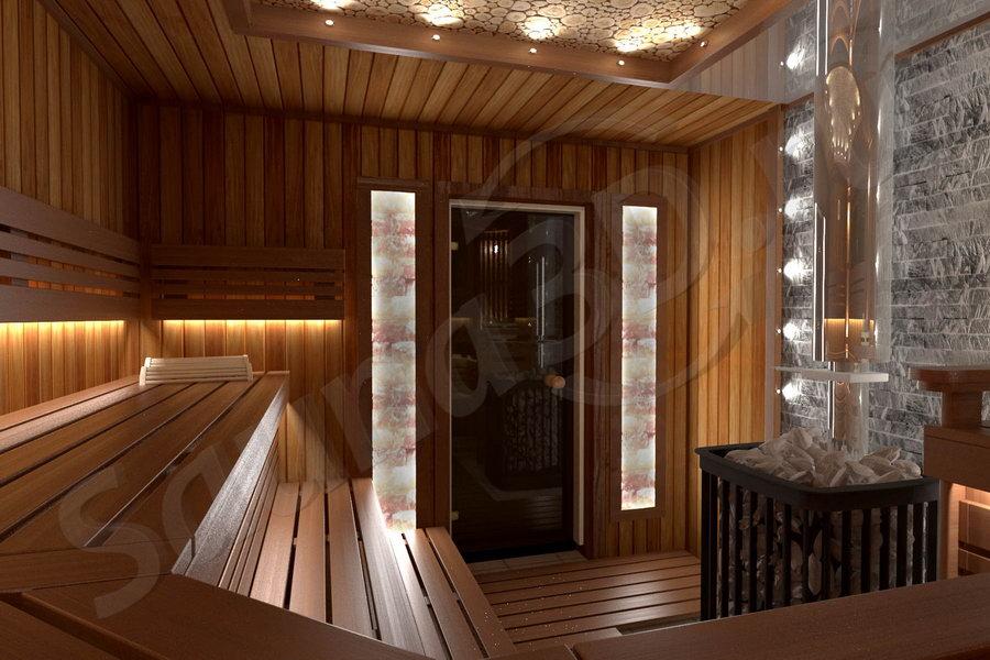 812 проект мрачной бани из термоосины дровяная печь KASTOR